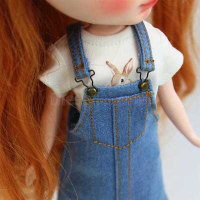 1/6 Rabbit Printed Shirt Short Sleeve Doll Clothes for 12'' Blythe MagiDeal