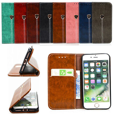 Luxury PU Leather Case Wallet Card Holder Pouch Flip Stand Cover For Smart Phone