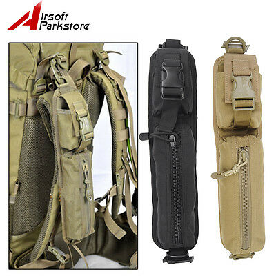 Tactical Military Molle Accessory Backpack Shoulder Strap Bag Tools Pouch BK/Tan