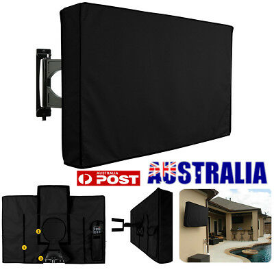 30- 32 Inch Waterproof Black TV Cover Outdoor Patio Flat Television Protector AU