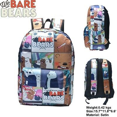 TV Show We Bare Bears Grizzly All Over Print Mehrfarbig Schulranzen Rucksack