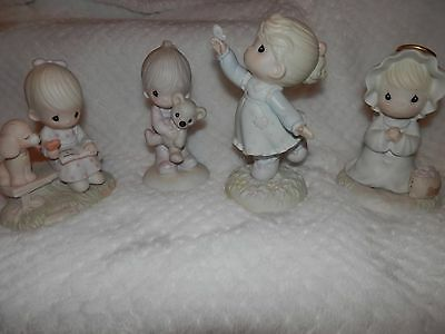Lot Of 4 Precious Moments Figurines