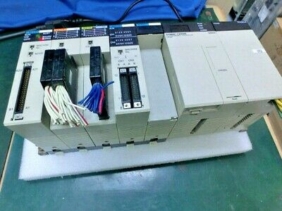 Omron Sysmac C200HE PLC,CPU42,PA204,SP001,MD215,OD218,ID217,NC112, Used,Jap@4866