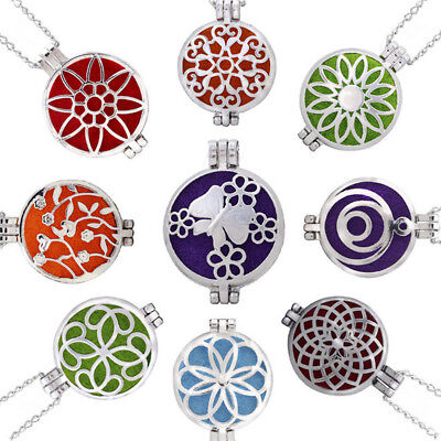 Girl Aromatherapy Essential Oil Diffuser Necklace alloy Stainless Locket Pendant