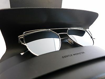 Brand New Gentle Monster Sunglasses Love Punch 54 mm Silver Mirror Lenses