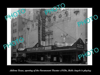Old Large Historic Photo Of Abilene Texas, Opening Of The Paramount Theater 1920
