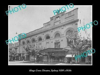OLD LARGE HISTORICAL PHOTO OF THE KINGS CROSS THEATRE, SYDNEY NSW c1930