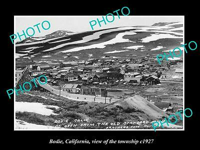 OLD LARGE HISTORIC PHOTO OF BODIE CALIFORNIA, VIEW OF THE TOWNSHIP c1927