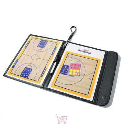 Magnetic Basketball Coach Coaching Aid Dry Erase Marker Clipboard Tactical Board