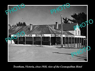 Old Large Historical Photo Of Trentham Victoria, The Cosmopolitan Hotel 1938