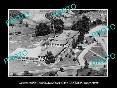 OLD LARGE HISTORIC PHOTO OF LAWRENCEVILLE GEORGIA, THE GENESCO FACTORY c1950