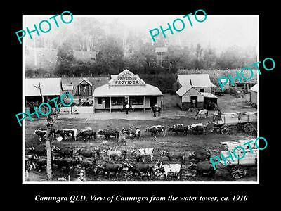 OLD LARGE HISTORIC PHOTO OF CANUNGRA QLD, VIEW OF THE TOWNSHIP c1910