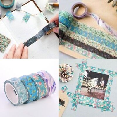 15MM*7M Photo DIY Washi Tape Masking Sticker Scrapbooking Label Flowers Printed