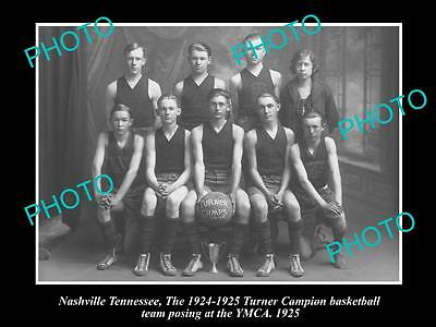 OLD LARGE HISTORIC PHOTO OF NASHVILLE TENNESSEE, THE YMCA BASKETBALLTEAM c1925