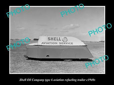 OLD LARGE HISTORIC PHOTO OF SHELL OIL COMPANY AVIATION FUEL TANKER c1940