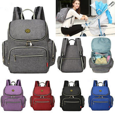 UK Multifunctional Baby Diaper Bag Backpack Mummy Handbag Nappy Changing Tote