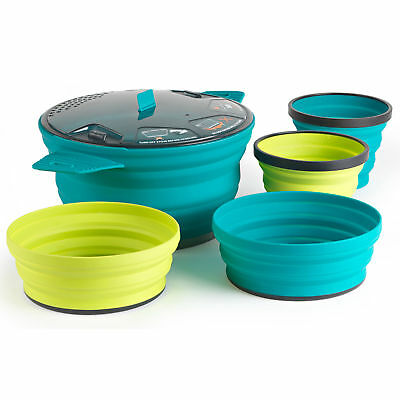 Sea To Summit X-Set 31 5pc Cook And Eat Set (Pacific Blue Pot, Lime Bowl & Mug,