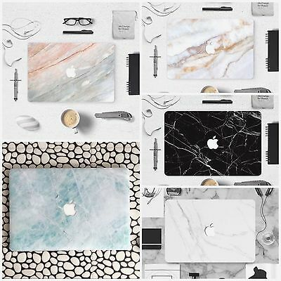 Marble Front Bottom Sticker Skin Cover Case Apple Mac Macbook Air Pro Retina 13""