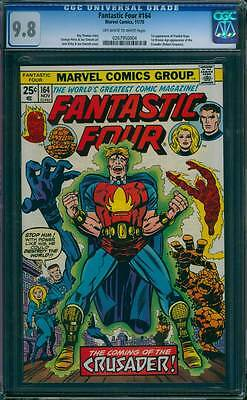 Fantastic Four # 164  The Coming of the Crusader !  CGC 9.8 scarce book !