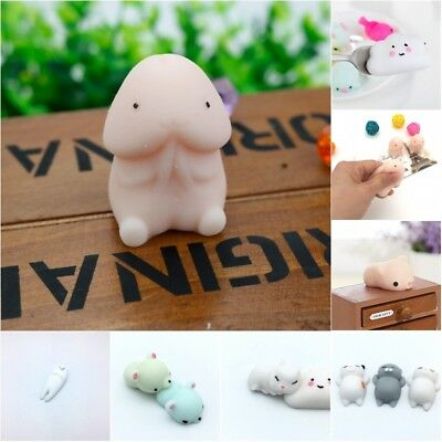 Cute Funny Anti Stress Face Reliever Toy Animal Autism Mood Vent Squeeze Mini