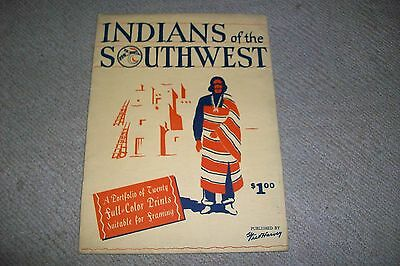 INDIAN RELICS Southwest Portfolio 1930s Fred Harvey Full Color Native Art Prints