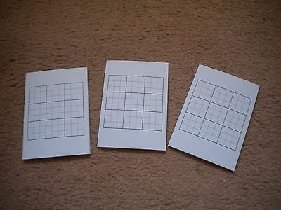 SuDoku Test grids, blank, 3 packs with 30 pads per pack.