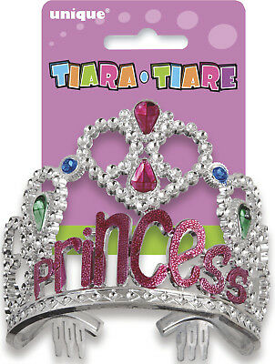 "Tiara ""Princess"" Girls Birthday Party Pink Princess Headwear"