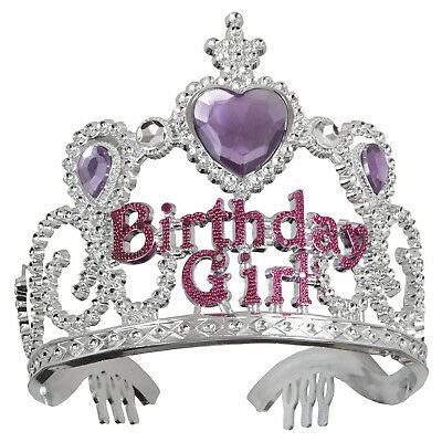 "Tiara ""Birthday Girl"" Girls Birthday Party Pink Princess Headwear"