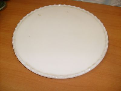 Parts: Old Vintage  Dental Dentists Chair Milk Glass Dish Plate 14 inch tray/ g1