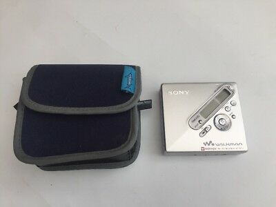Sony Walkman MZ- N710 Personal MiniDisc Player With Case - Tested Working
