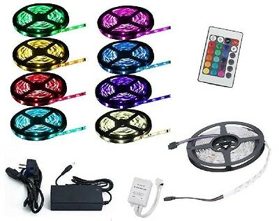 3 Meter LED RGB SMD5050 Strip wasserdicht 30LEDs/Meter incl. Controller+Trafo+FB