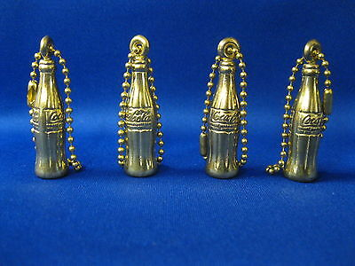 Coca Cola Small Bottle Gold Key Chains  (Four)