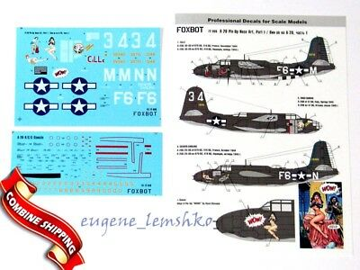 Foxbot - 72-006 - A-20 Pin-Up Nose Art and stencils, Part I - 1:72   *** NEW ***
