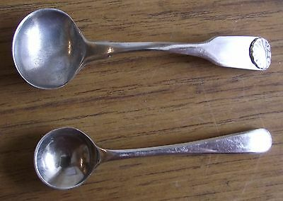 A Lovely George Iii 1814 Silver Salt Spoon By Solomon Hougham And A Freebie One