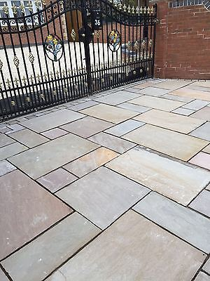 BUFF INDIAN sandstone Patio Pack Paving Flags slabs - 18.9m2 SALE ...