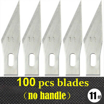 100Pcs Blades Exacto Knife Style #11 For x-acto Hobby Tool Crafts Graver Cutting