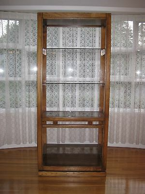 Shelving, Bookcase, Storage, Traditional Style, Walnut and Smoke Colored Glass