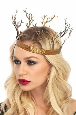 Brand New Medieval Renaissance Queen Metal Fantasy Forest Crown