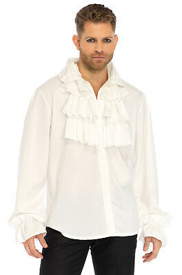 Brand New Victorian Pirate Ruffle Front Shirt Adult Costume