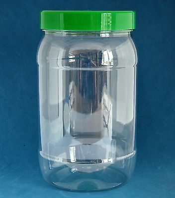 1000ml Clear Plastic Victorian Style Jars with Domed Caps 1-40 Multi Listing