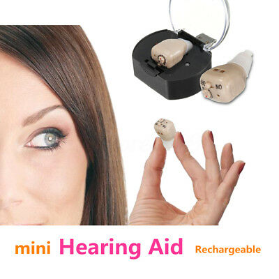 Rechargeable Hearing Aids Mini Digital Adjustable Tone In Ear Sound Amplifier
