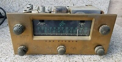 Vintage Fisher 80 Mono Tube FM AM Tuner Preamplifier Preamp for repair or Part