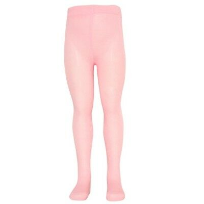 Mopas Baby Girls Pink Opaque High Waisted Stretchy Footed Tights 0-12m