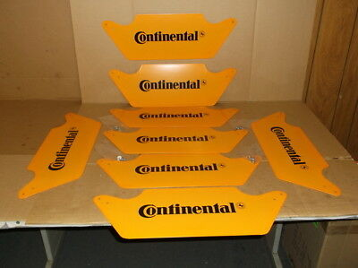 """8 """"Continental"""" Metal Plates Used for Tire Stand Display"""