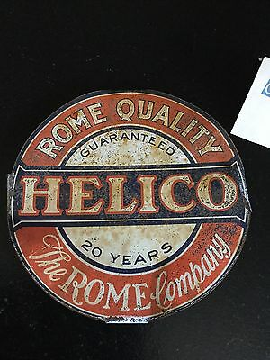 Vtg Helico Rome Quality The Rome Co. Metal Tin Advertising Mattress Spring Label