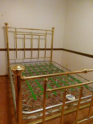 Antique Brass Bed - Full Size Includes Old Set of Springs