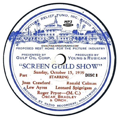 Screen Guild Theater (351 Shows) Old Time Radio Mp3 8 Cd's