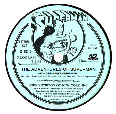 Superman (1,171 Shows) Old Time Radio Mp3 8 Cd's