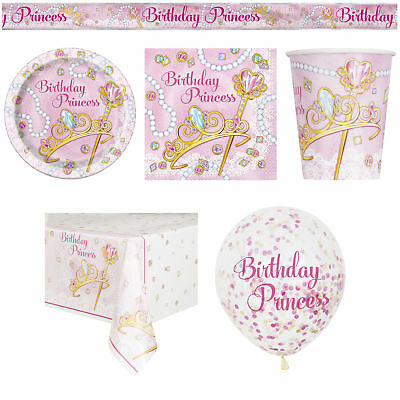 40 Item Set Girls Birthday Party Pink Princess Bundle