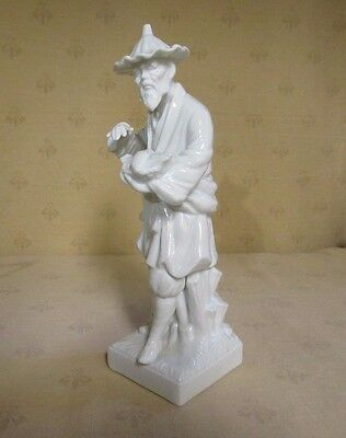 """Vintage Oriental Man with Fish Fritz and Floyd Figure 1976 8 1/4"""" Tall"""